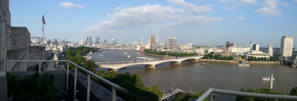 Post launch view of London